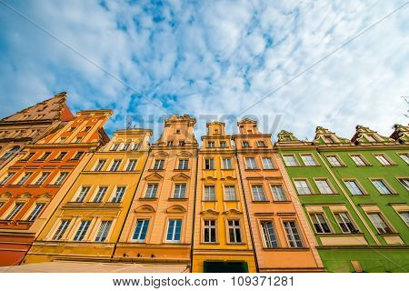 Buildings on the market square in Wroclaw