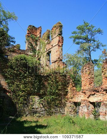 Ruins Of New Manchester Manufacturing Company Mill At Sweetwater Creek State Park In Georgia