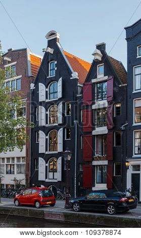 Amsterdam - The House On The Canal In Summer Day