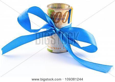 Sheqel With Ribbon