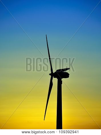 Wind turbine at dawn