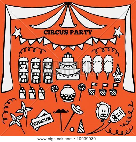 retro circus party ideas elements