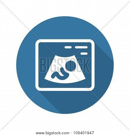 Ultrasonography Icon. Flat Design.
