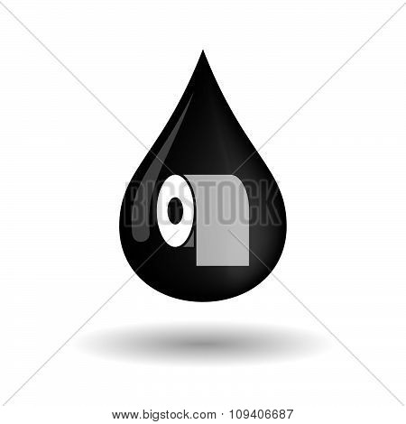 Vector Oil Drop Icon With A Toilet Paper Roll