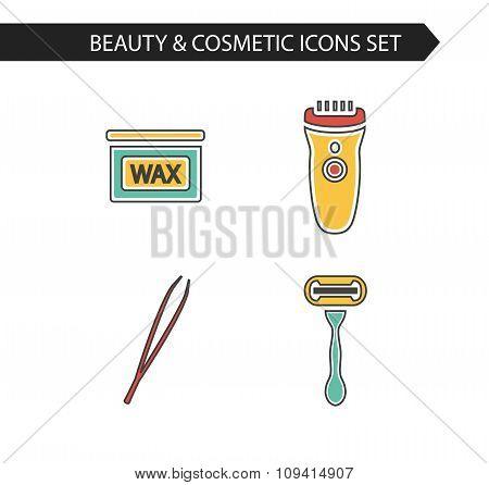 icons set of depilation
