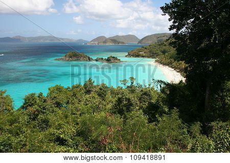 Ocean and beach on St John