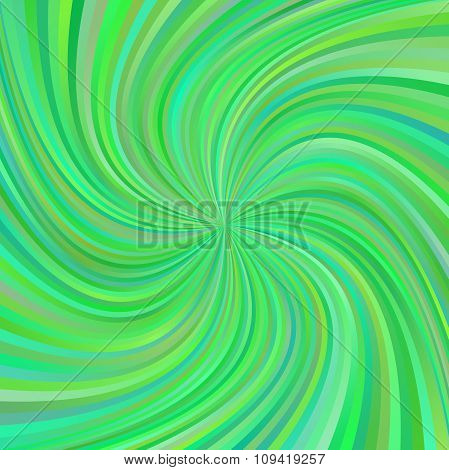 Green multicolored spiral ray design background