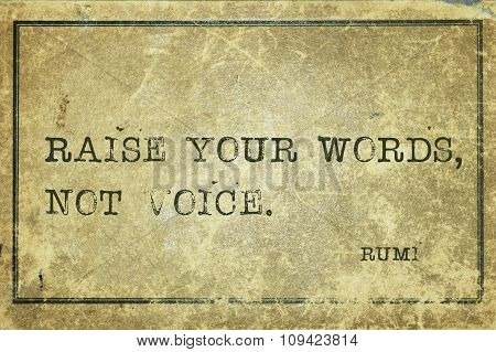 Rise Words Rumi
