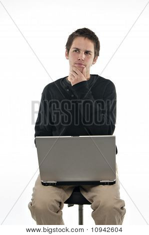 Teenager With Laptop