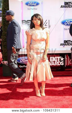 LOS ANGELES - JUN 29:  Kyla Pratt at the 2014 BET Awards - Arrivals at the Nokia Theater at LA Live on June 29, 2014 in Los Angeles, CA