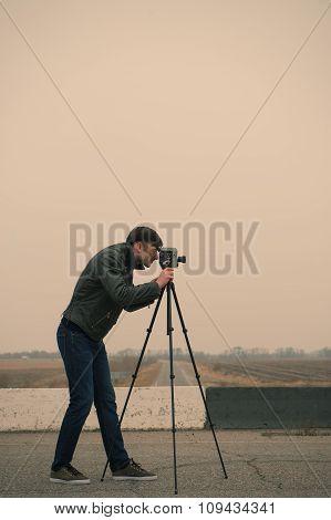 Cameraman Making A Film
