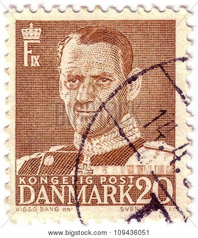 Denmark - Circa 1948: Stamp Printed By Denmark, Shows Frederik Ix, Circa 1948