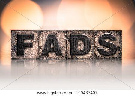 Fads Concept Vintage Letterpress Type