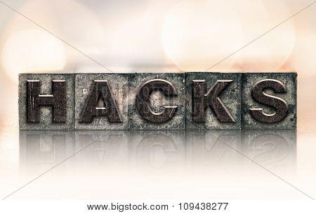 Hacks Concept Vintage Letterpress Type