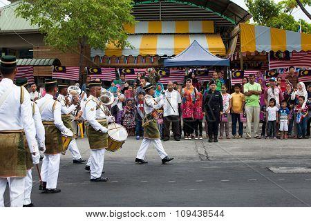 Kota Kinabalu, Sabah, Malaysia. August 31, 2015. Around the state level Independence Day celebrations Sabah
