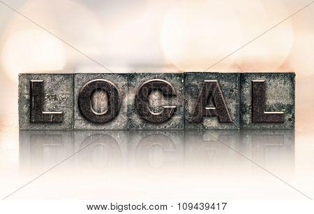 Local Concept Vintage Letterpress Type
