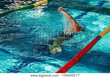 Athletic Swimmer In Action 9