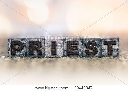 Priest Concept Vintage Letterpress Type