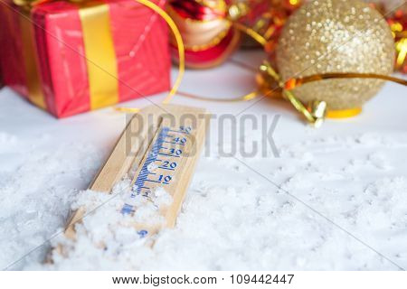 New Year concept with thermometer