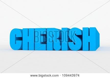 Big 3D Bold Text - Cherish