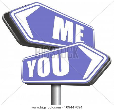 choosing between me and you, your or my opinion marriage crisis or differences leading to divorce and separation having different or separate interests and opinions