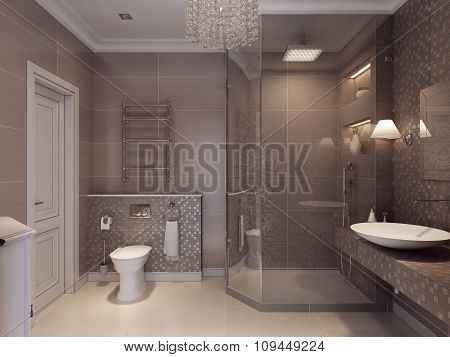 Design A Bathroom In A Classic Style.