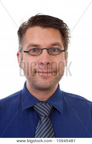 Portrait Of Male Nerdy Geek