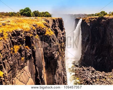 Majestic view of Victoria Falls