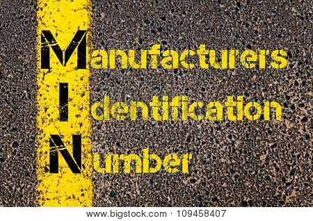Business Acronym Min As Manufacturers Identification Number