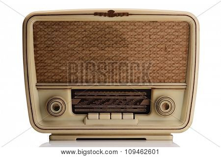 vintage radio - isolated