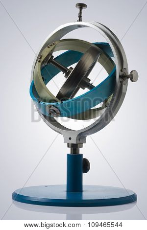 gyroscope isolated with clipping path