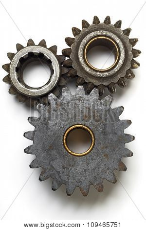 collection of gears on white