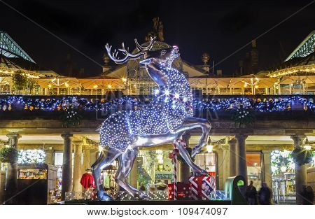 Christmas At Covent Garden In London