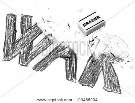 Rubber Deletes The Written War
