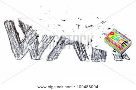 Rubber With Written Peace Deletes The Black Written War