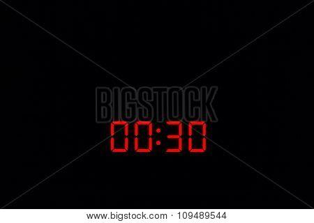 Digital Watch 00:30