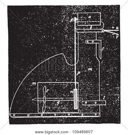 Application of Mr. Trouve engine, a ship, vintage engraved illustration. Industrial encyclopedia E.-O. Lami - 1875.