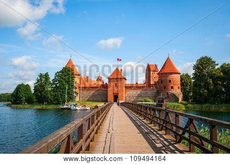 Bridge To Trakai Castle, Lithuania
