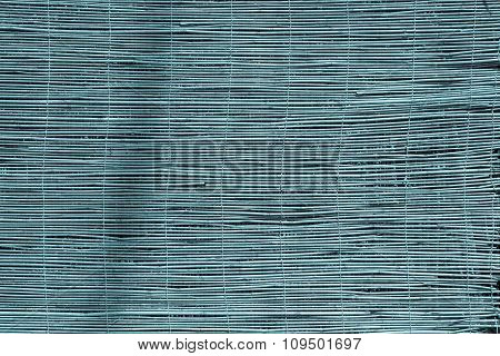 Curtain Or Screen From A Reed Of Blue Color