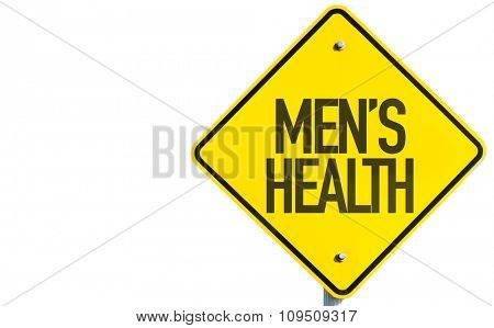 Mens Health sign isolated on white background