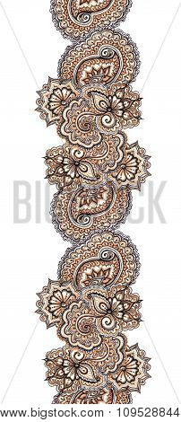 Marker painted decorative ornamental border. Repeated eastern frame
