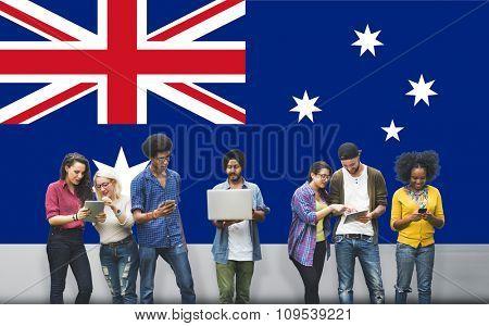 Australia Flag Country Nationality Liberty Concept
