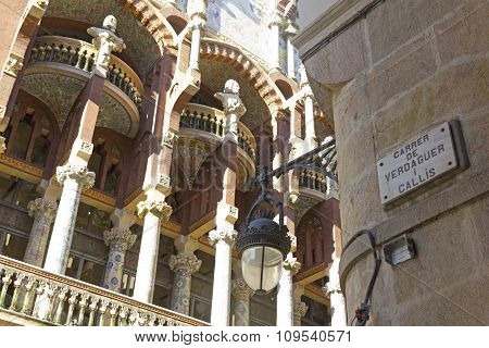 Facade of the Palace of Catalan Music in Barcelona