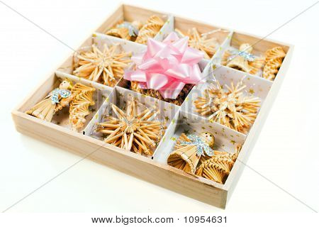 Christmas Decorations - Straw Toys  And Bow