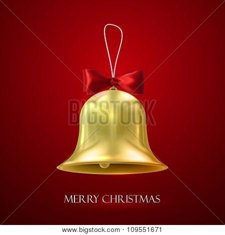 Golden Christmas Bell.