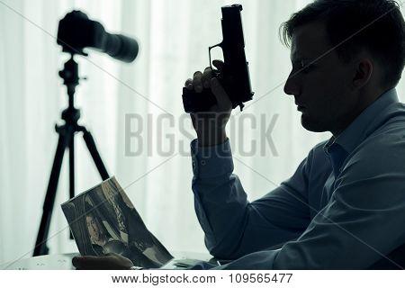 Serial Killer With Gun