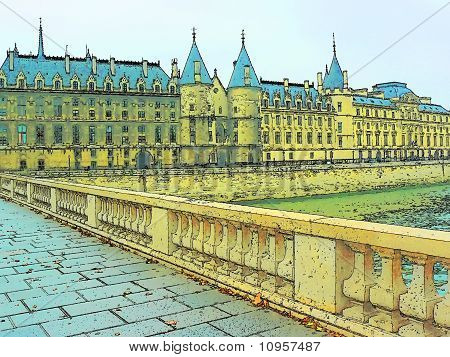 Paris Illustration, La Conciergerie (former Prison)