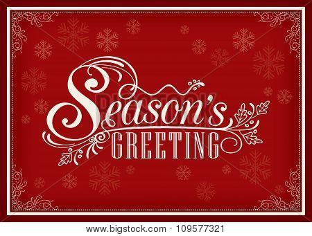 Season Greeting Word Vintage Frame Design