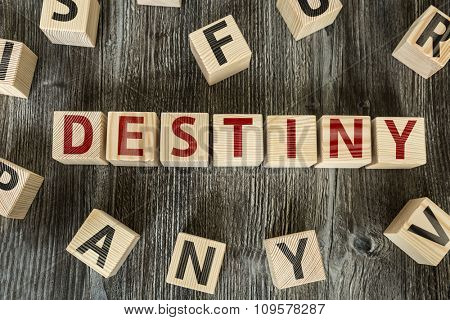Wooden Blocks with the text: Destiny