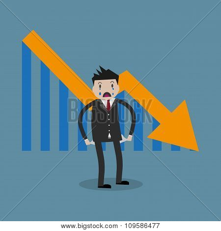 businessman arrow pointing